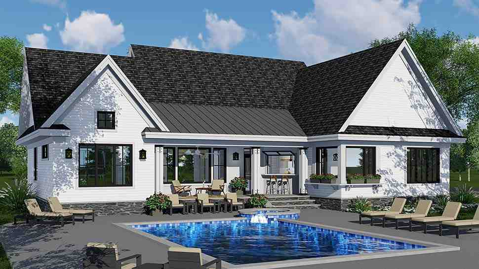 Country, Craftsman, Farmhouse, Southern House Plan 42696 with 3 Beds, 3 Baths, 2 Car Garage Picture 4