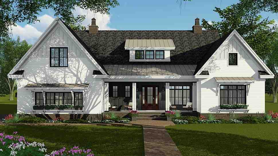 Country, Craftsman, Farmhouse House Plan 42697 with 4 Beds, 4 Baths, 2 Car Garage Picture 4