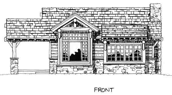 Cabin, Cottage, Craftsman House Plan 43204 with 2 Beds, 2 Baths Picture 5
