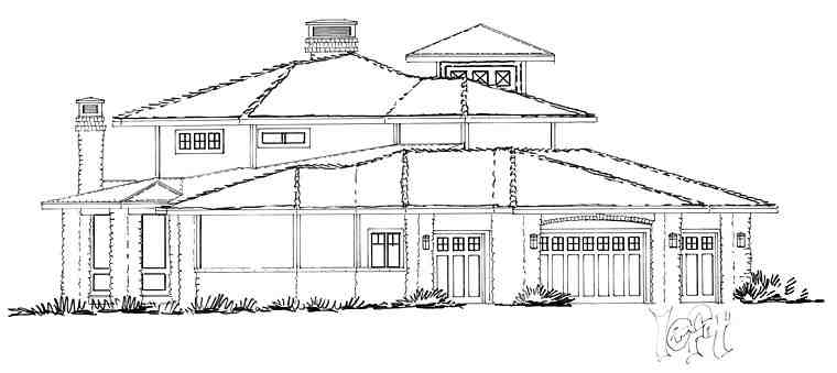 Bungalow, Contemporary, Craftsman House Plan 43225 with 4 Beds, 5 Baths, 4 Car Garage Picture 4