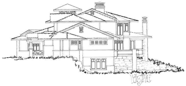 Bungalow, Contemporary, Craftsman House Plan 43225 with 4 Beds, 5 Baths, 4 Car Garage Picture 5