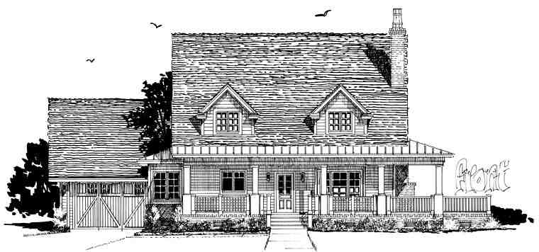 Country, Farmhouse, Southern House Plan 43237 with 4 Beds, 4 Baths, 2 Car Garage Picture 1