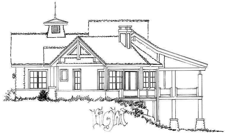 Cottage, Country, Craftsman House Plan 43238 with 3 Beds, 3 Baths, 3 Car Garage Picture 2