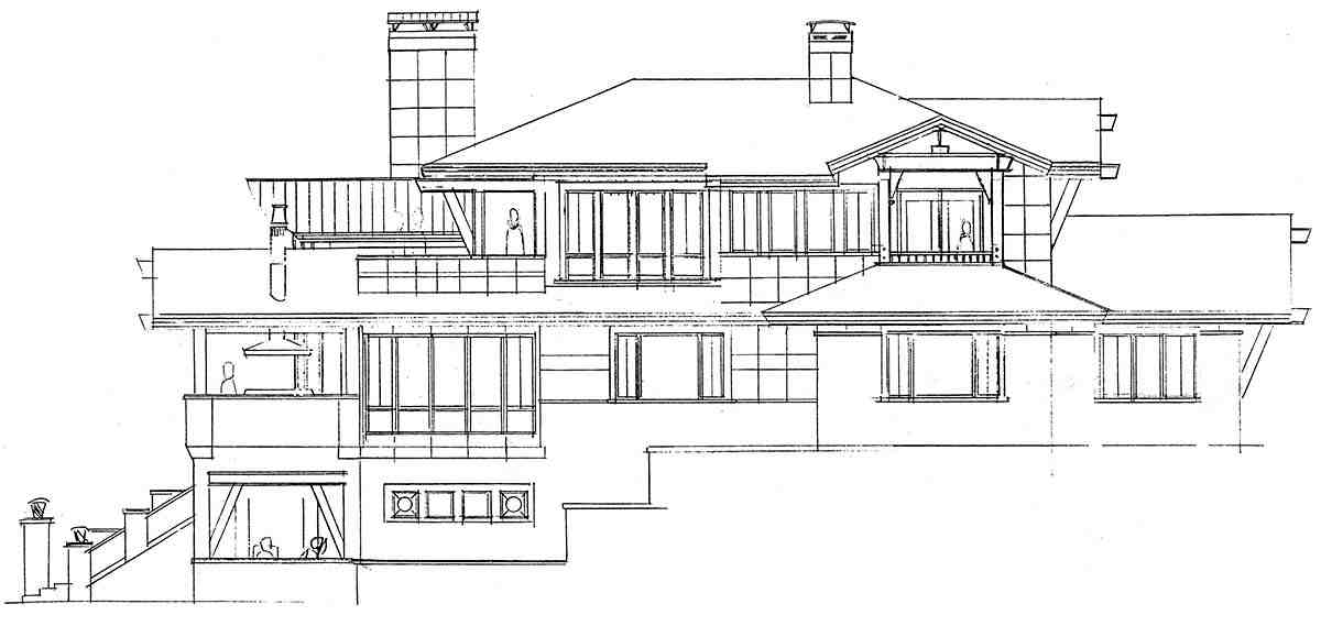 Contemporary House Plan 43248 with 4 Beds, 6 Baths, 3 Car Garage Picture 2
