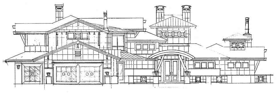 Contemporary House Plan 43248 with 4 Beds, 6 Baths, 3 Car Garage Picture 3