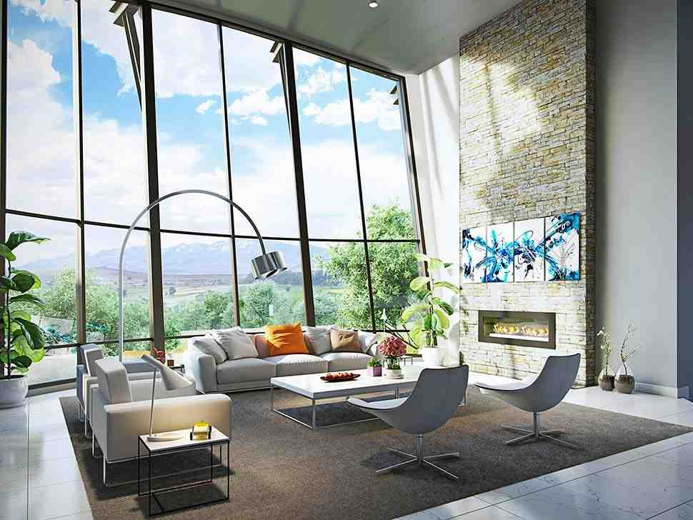 Contemporary House Plan 43248 with 4 Beds, 6 Baths, 3 Car Garage Picture 6