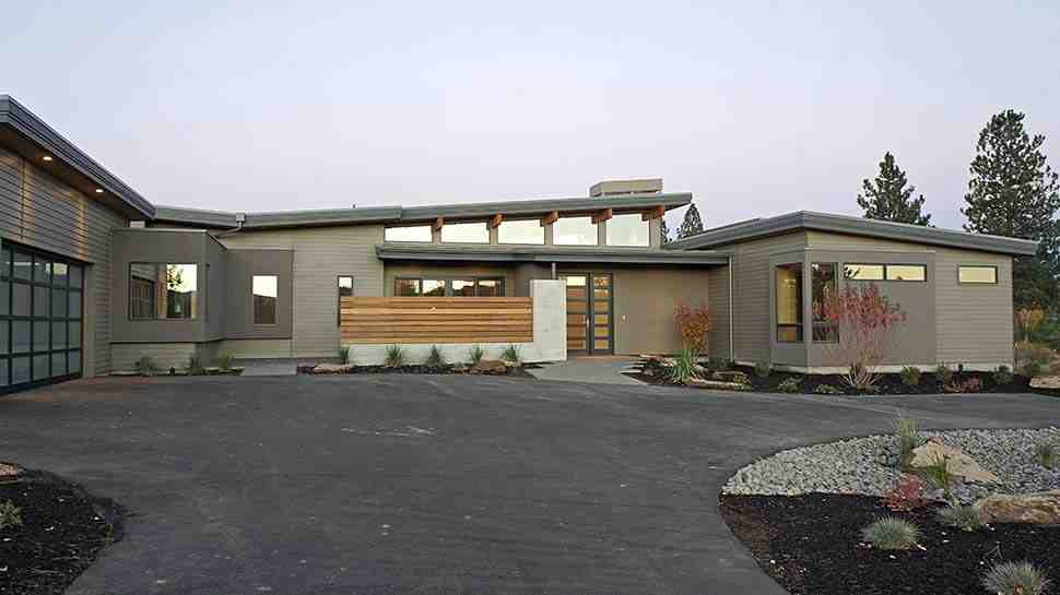 Contemporary, Modern House Plan 43316 with 3 Beds, 4 Baths, 3 Car Garage Picture 2