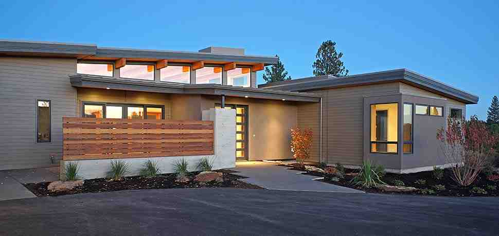 Contemporary, Modern House Plan 43316 with 3 Beds, 4 Baths, 3 Car Garage Picture 4