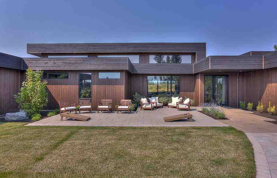 Modern House Plan 43321 with 3 Beds, 4 Baths, 3 Car Garage Picture 7