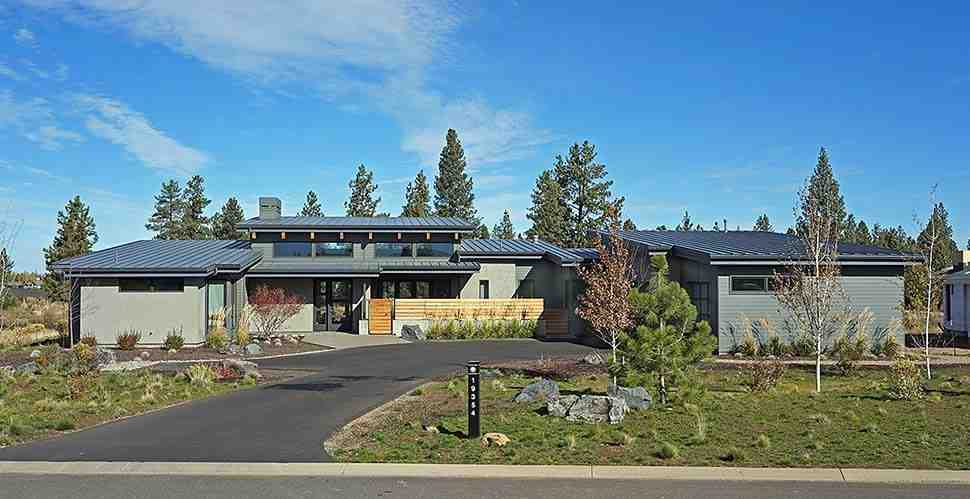 Contemporary, Modern House Plan 43322 with 3 Beds, 4 Baths, 3 Car Garage Elevation