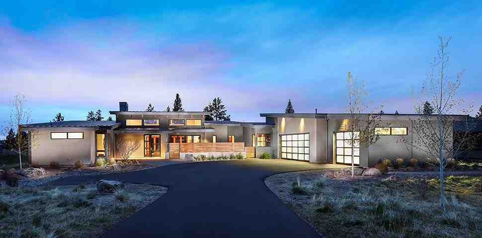 Contemporary, Modern House Plan 43322 with 3 Beds, 4 Baths, 3 Car Garage Picture 1