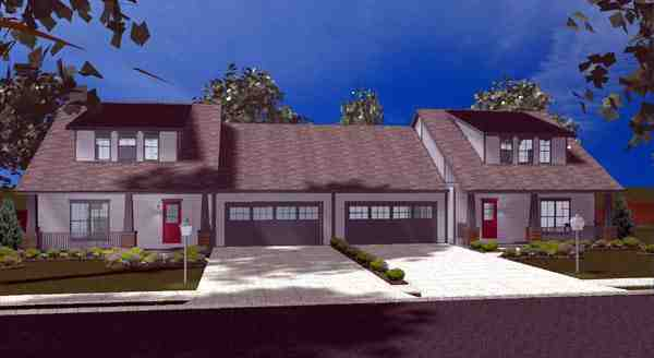 Craftsman Multi-Family Plan 44102 with 6 Beds, 6 Baths, 4 Car Garage Elevation
