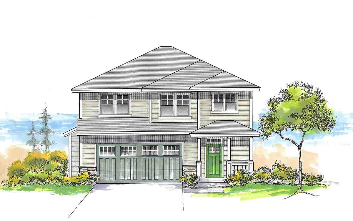 Craftsman, Traditional House Plan 44410 with 3 Beds, 3 Baths, 2 Car Garage Elevation