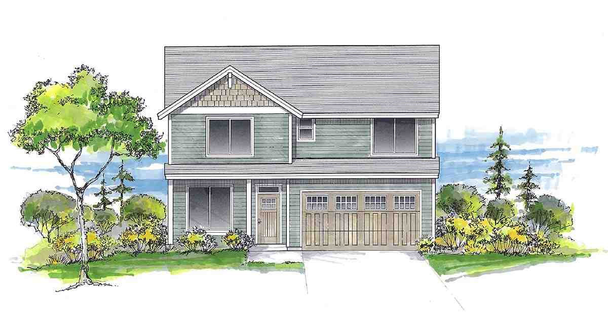 Craftsman, Traditional House Plan 44413 with 6 Beds, 3 Baths, 2 Car Garage Elevation