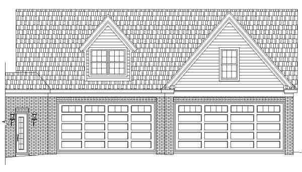 Traditional 6 Car Garage Apartment Plan 44914 with 1 Beds, 2 Baths Picture 1