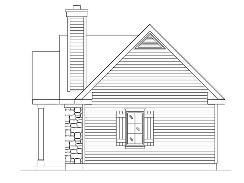 Bungalow, Cabin, Cottage, Craftsman, Narrow Lot, One-Story House Plan 45166 with 1 Beds, 1 Baths Picture 1