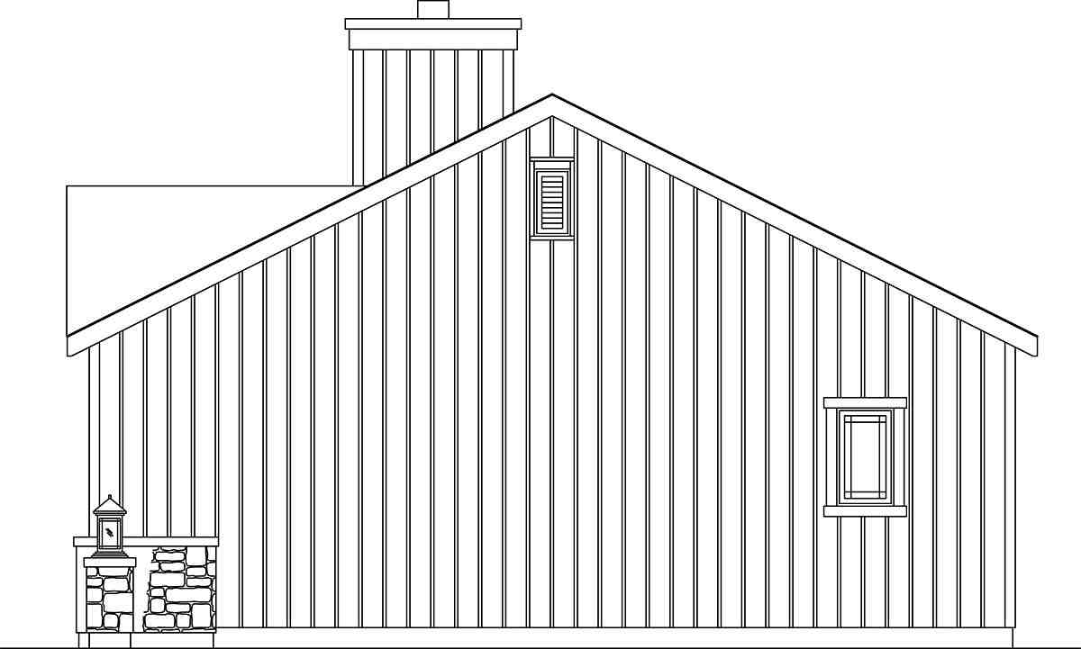 Bungalow, Cottage, Narrow Lot, One-Story House Plan 45186 with 1 Beds, 1 Baths Picture 1