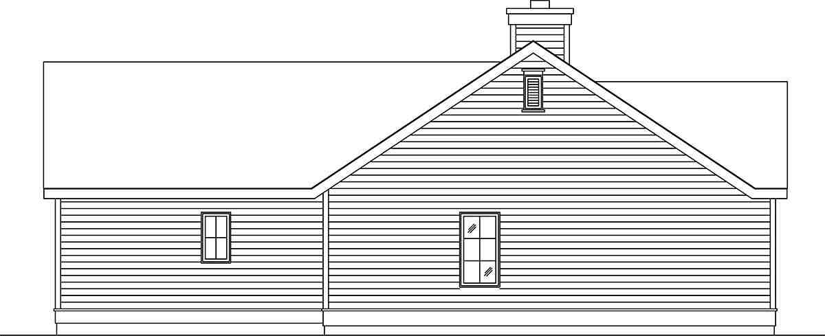 Narrow Lot, One-Story House Plan 45188 with 1 Beds, 1 Baths, 1 Car Garage Picture 2