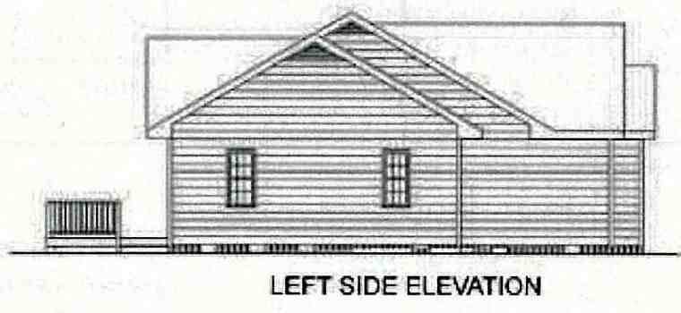 Ranch, Traditional House Plan 45210 with 3 Beds, 2 Baths, 2 Car Garage Picture 1