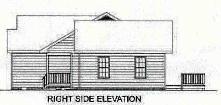 Ranch, Traditional House Plan 45210 with 3 Beds, 2 Baths, 2 Car Garage Picture 2