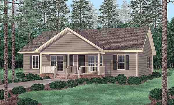 Traditional Multi-Family Plan 45347 with 4 Beds, 4 Baths Elevation