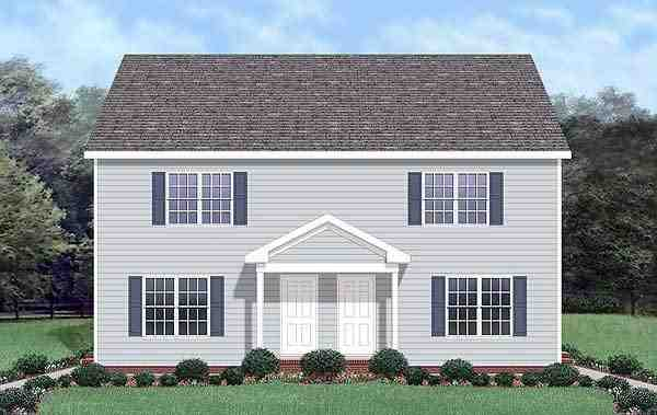 Colonial Multi-Family Plan 45370 with 6 Beds, 6 Baths Elevation