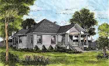 One-Story House Plan 45624 with 3 Beds, 3 Baths Elevation
