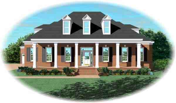 Cape Cod House Plan 48523 with 3 Beds, 5 Baths, 3 Car Garage Elevation