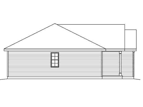 Ranch House Plan 49199 with 2 Beds, 2 Baths, 2 Car Garage Picture 1
