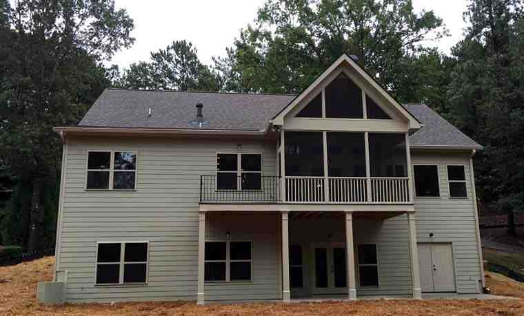 Cottage, Country, Craftsman, Ranch, Southern, Traditional House Plan 50267 with 3 Beds, 2 Baths, 2 Car Garage Rear Elevation