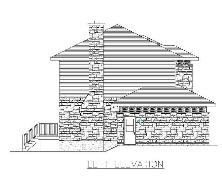 Contemporary, Modern House Plan 50323 with 3 Beds, 2 Baths, 2 Car Garage Picture 1