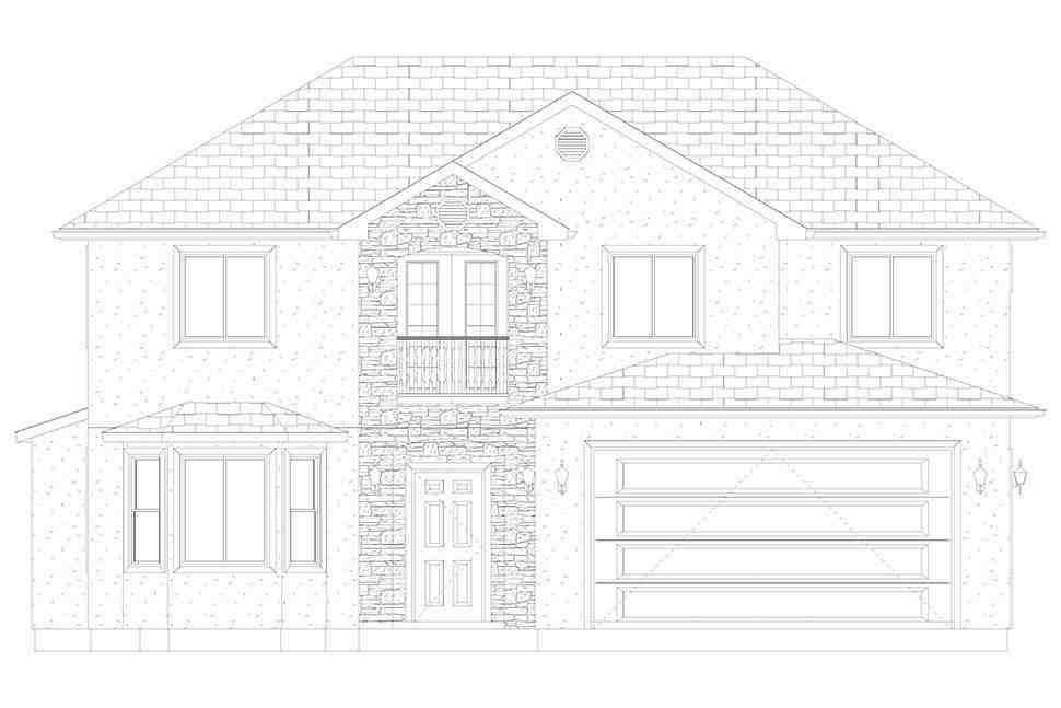 Traditional House Plan 50535 with 4 Beds, 2 Baths, 2 Car Garage Picture 24