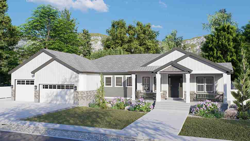 Craftsman, Ranch, Traditional House Plan 50536 with 6 Beds, 5 Baths, 3 Car Garage Picture 3