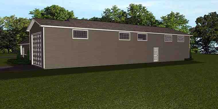 Traditional 4 Car Garage Apartment Plan 50763 Rear Elevation