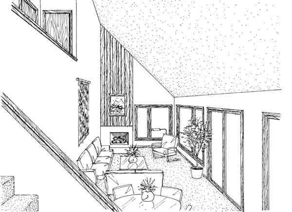 A-Frame House Plan 51028 with 2 Beds, 2 Baths Picture 1