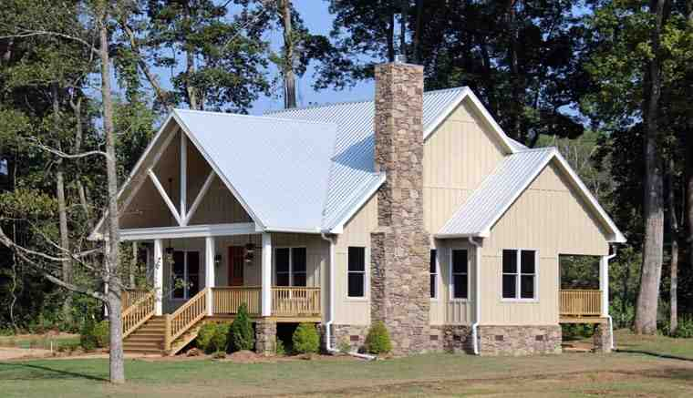 Cabin, Country, Farmhouse House Plan 51411 with 3 Beds, 4 Baths Picture 1