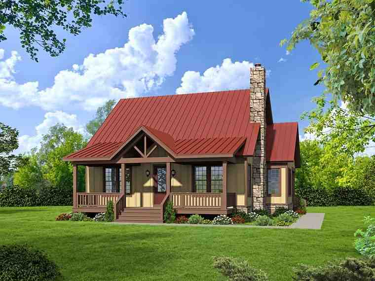 Country, Southern House Plan 51437 with 3 Beds, 3 Baths Elevation