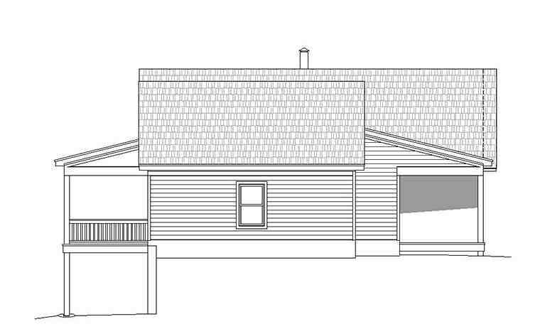 Contemporary, Country House Plan 51552 with 2 Beds, 2 Baths, 2 Car Garage Picture 1