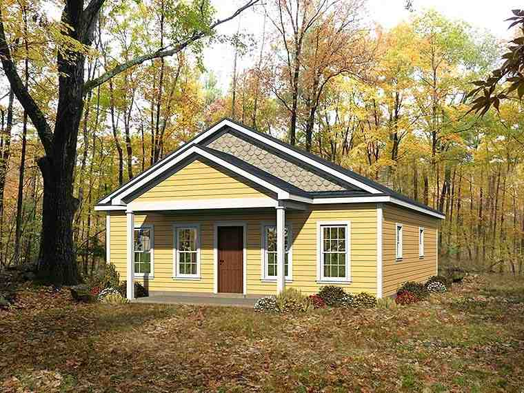 Cabin, Country, Ranch, Traditional House Plan 51561 with 2 Beds, 2 Baths Elevation