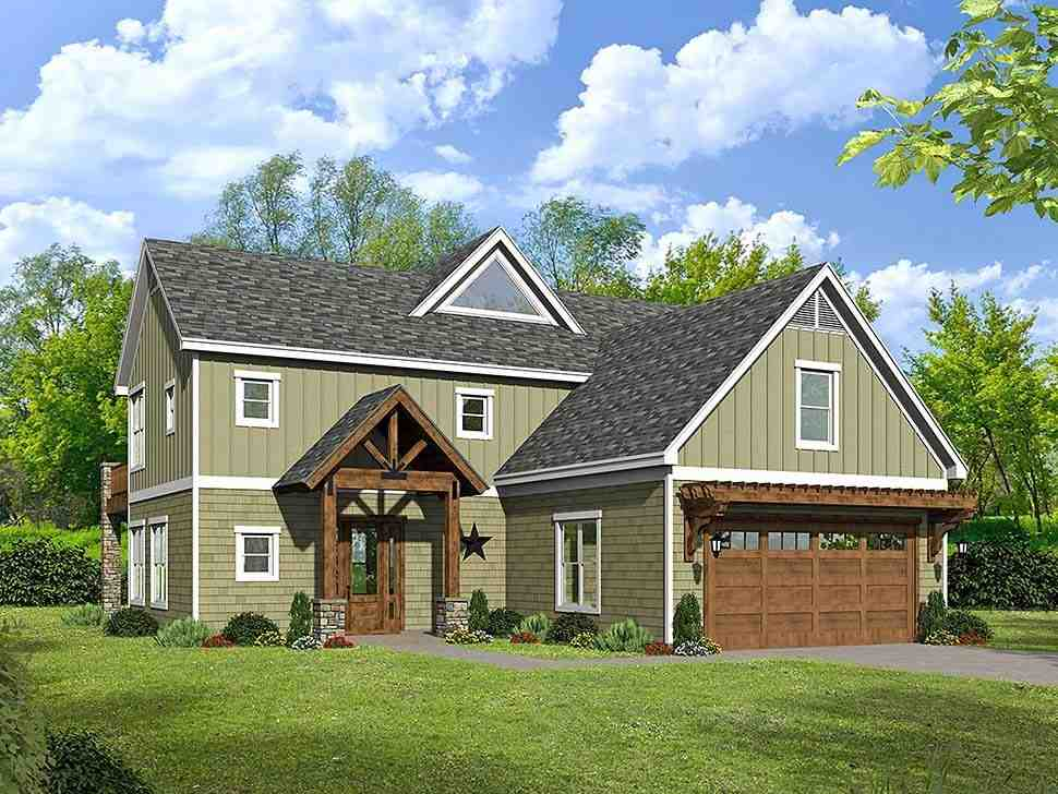 Colonial, Southern, Traditional House Plan 51599 with 3 Beds, 3 Baths, 2 Car Garage Elevation