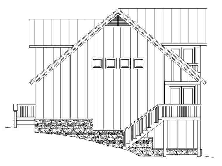 Country, Traditional Garage-Living Plan 51645 with 3 Beds, 4 Baths, 2 Car Garage Picture 2