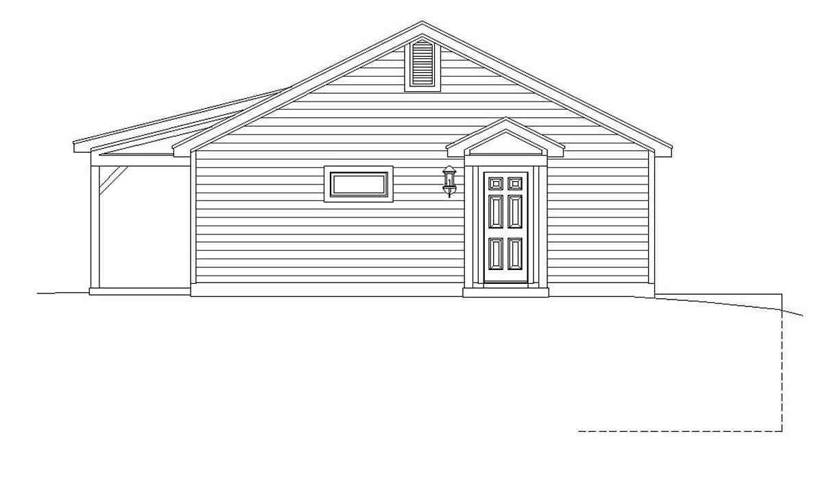 Cape Cod, Country, Farmhouse, Ranch, Saltbox, Traditional House Plan 51676 with 2 Beds, 2 Baths Picture 1