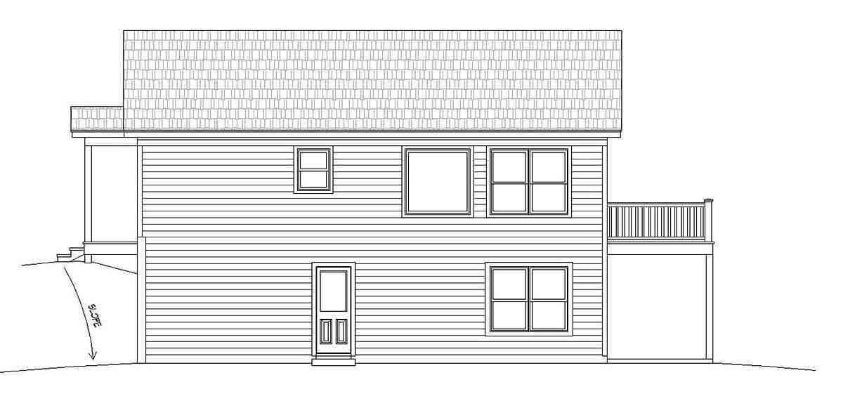 Cape Cod, Country, Farmhouse, Ranch, Saltbox, Traditional House Plan 51676 with 2 Beds, 2 Baths Picture 2