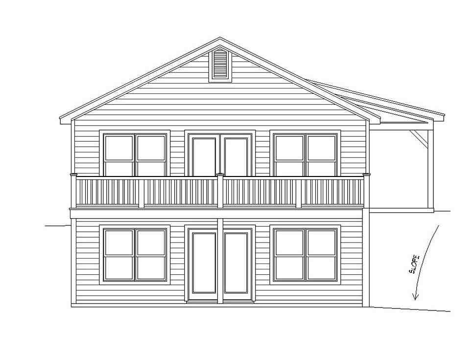 Cape Cod, Country, Farmhouse, Ranch, Saltbox, Traditional House Plan 51676 with 2 Beds, 2 Baths Picture 3