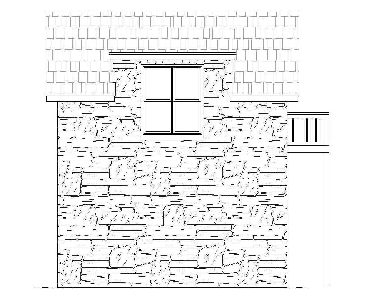French Country, Traditional 1 Car Garage Plan 51691 Picture 1