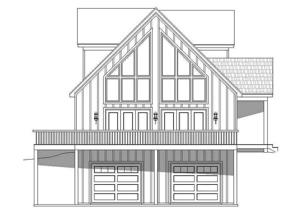 Contemporary, Country, Craftsman House Plan 51696 with 3 Beds, 2 Baths, 2 Car Garage Picture 2