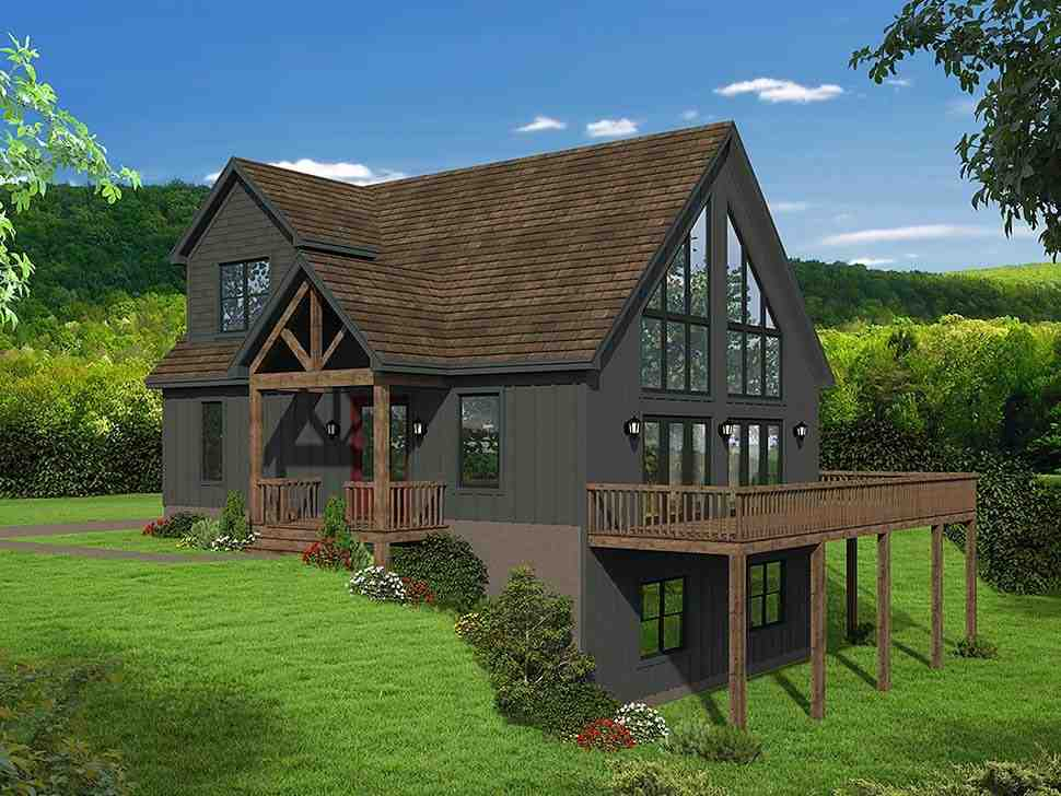 Contemporary, Country, Traditional House Plan 51697 with 3 Beds, 3 Baths Elevation