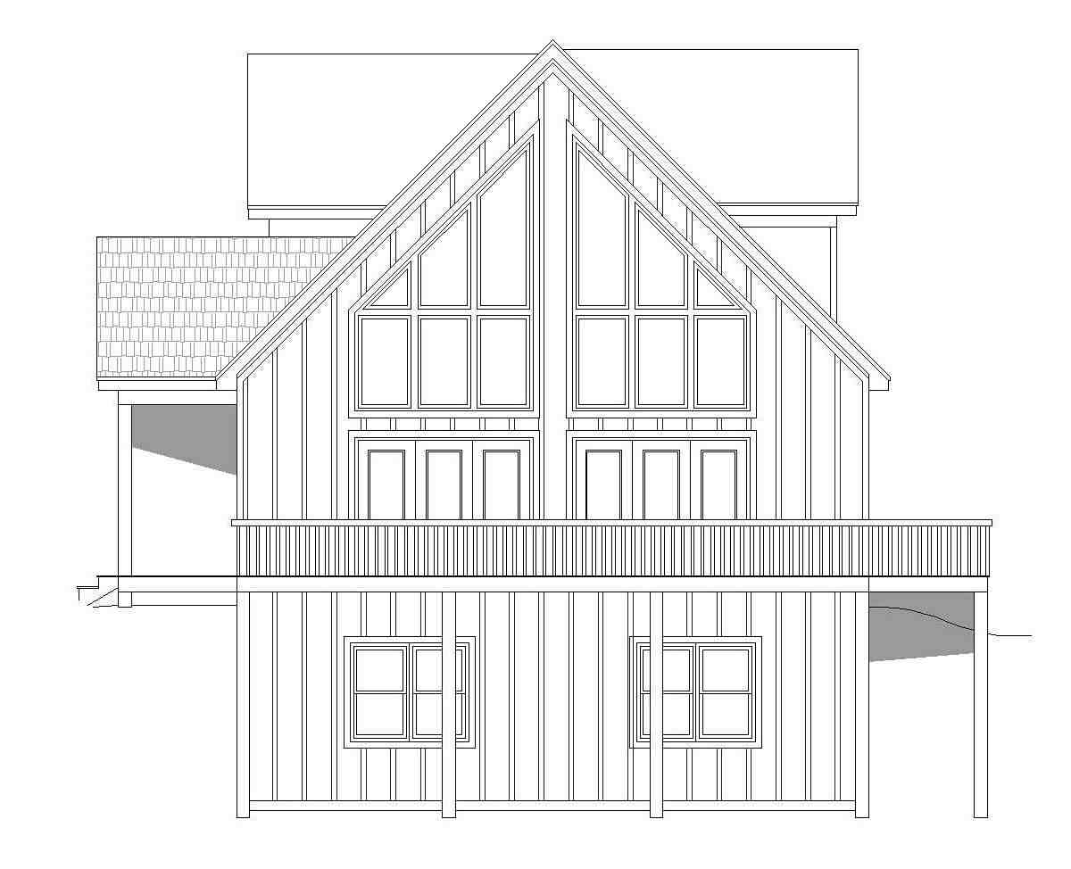 Contemporary, Country, Traditional House Plan 51697 with 3 Beds, 3 Baths Picture 1