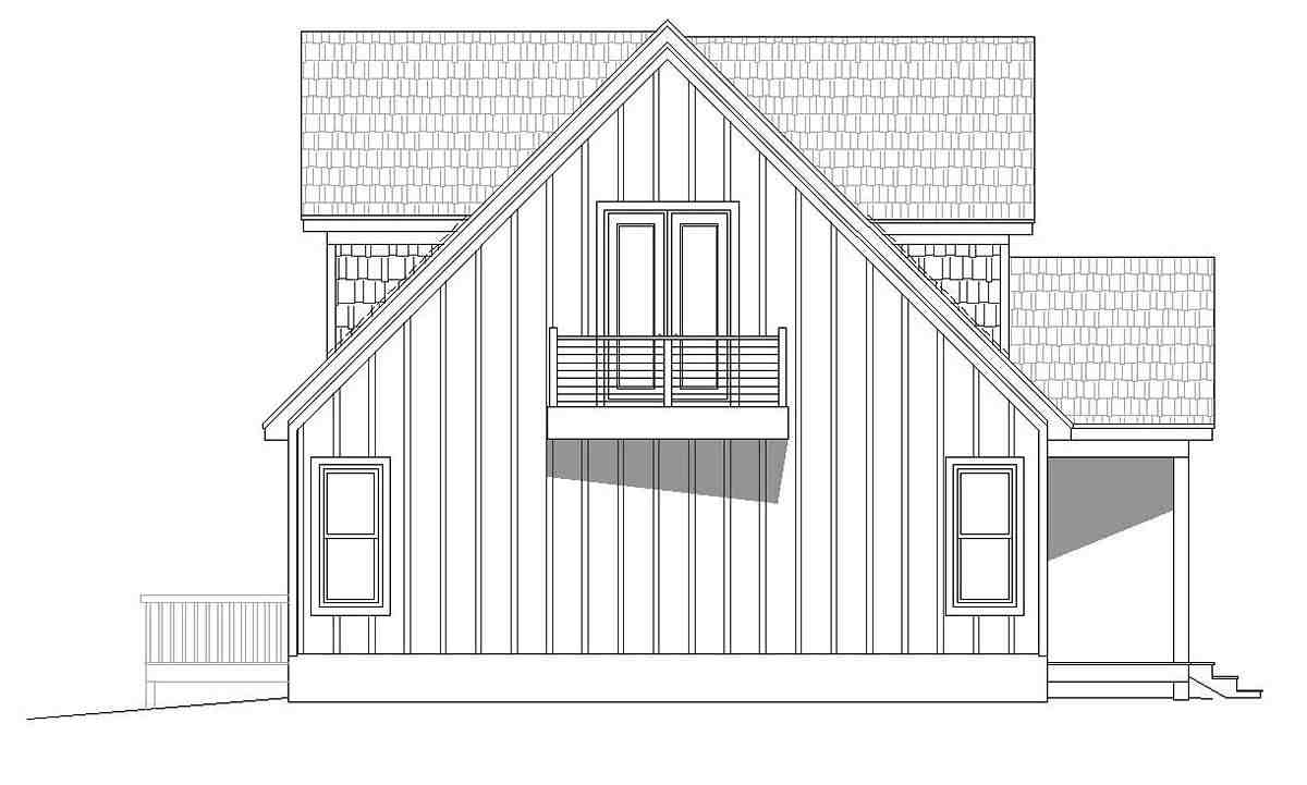 Contemporary, Country, Traditional House Plan 51697 with 3 Beds, 3 Baths Picture 2