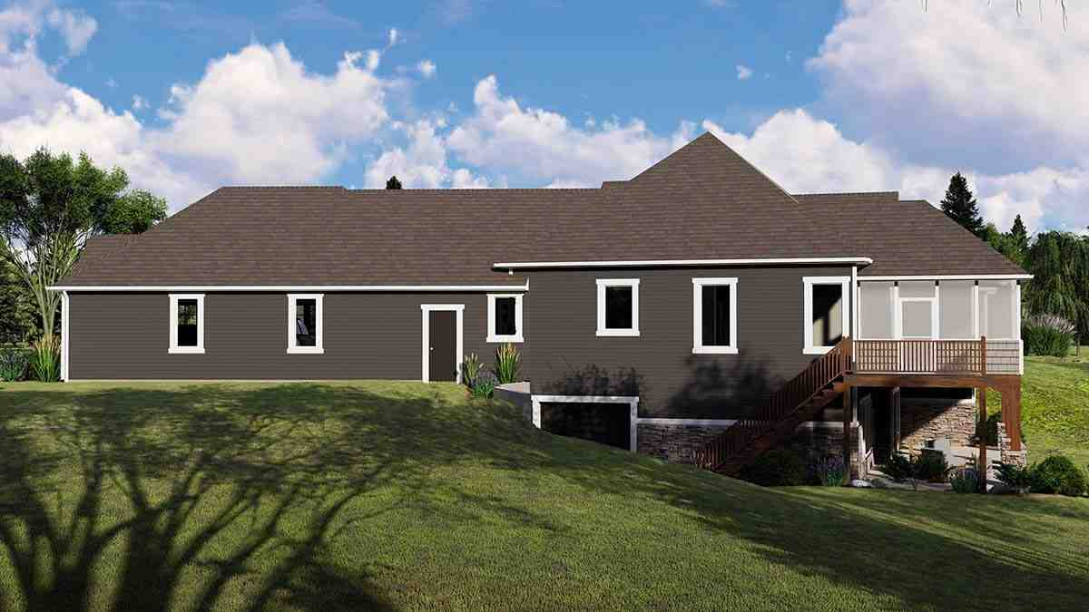 Country, Craftsman, Ranch House Plan 51854 with 4 Beds, 4 Baths, 3 Car Garage Picture 1